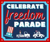 celebrate freedom parade graphic